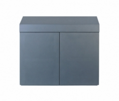 Wood Cabinet Metallic Silver
